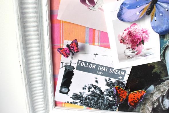 Miss Kris DIY Butterfly Push Pins Inspiration Board Office Decor DETAILS 1