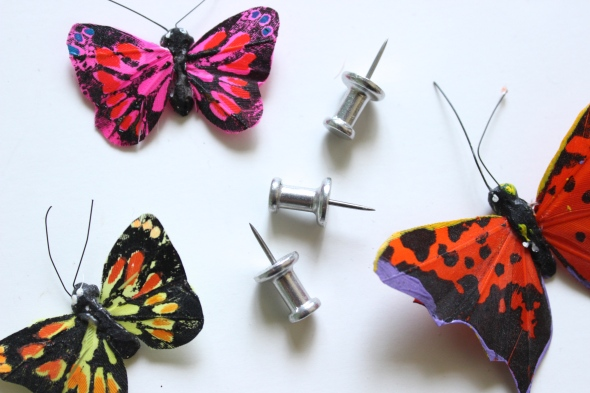 Miss Kris DIY Butterfly Push Pins Inspiration Board Office Decor  PINS