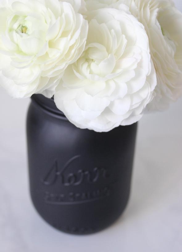 Miss Kris Painted Matte Black Mason Jar DIY DETAIL