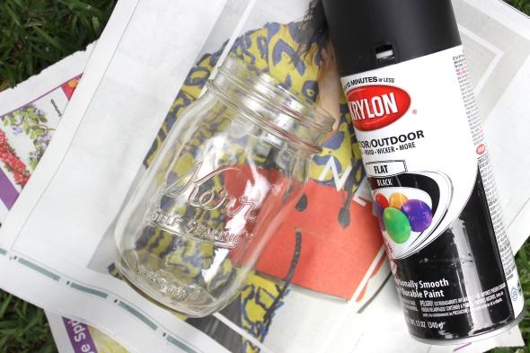 Miss Kris Painted Matte Black Mason Jar DIY MATERIALS