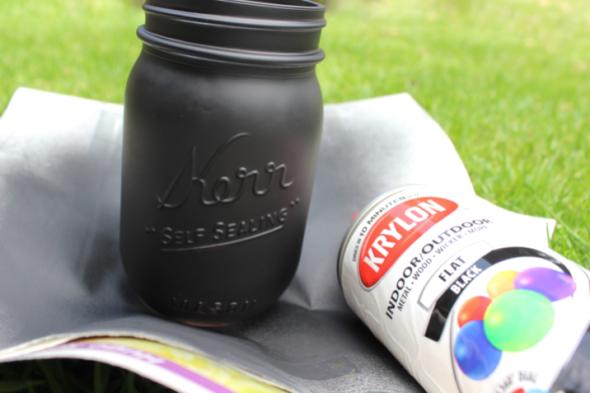 Miss Kris Painted Matte Black Mason Jar DIY PAINT