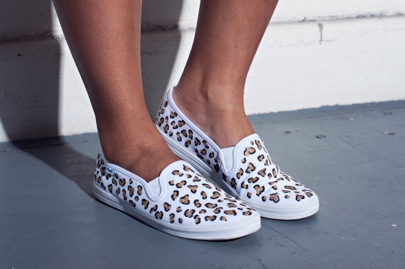 Miss Kris Spotted Animal Print DIY Keds Spin Ons  DETAIL