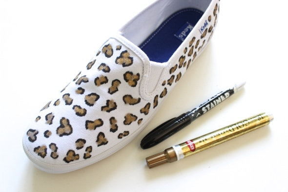 Miss Kris Spotted Animal Print DIY Keds Spin Ons FULL
