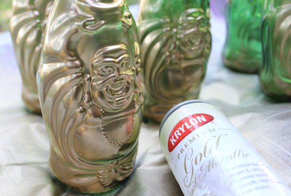 LuckyBuddha Miss Kris Gold Bottle Floral Garland DIY 3