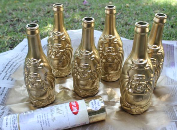 LuckyBuddha Miss Kris Gold Bottle Floral Garland DIY 4