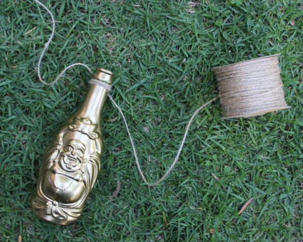 LuckyBuddha Miss Kris Gold Bottle Floral Garland DIY 5