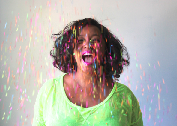 Miss Kris Confetti Shower DIY How To INSPIRED.
