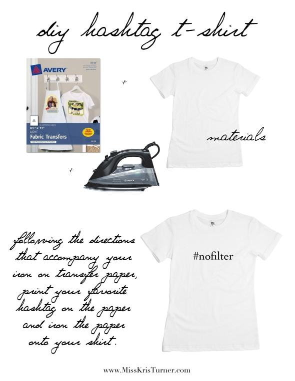 Miss Kris DIY Hashtag T-shirt