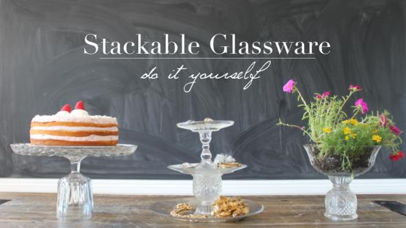 Miss Kris DIY Glassware Cake Stand