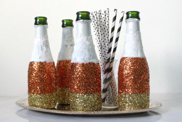 Miss Kris Glitter Champagen Bottles DIY 2 Halloween