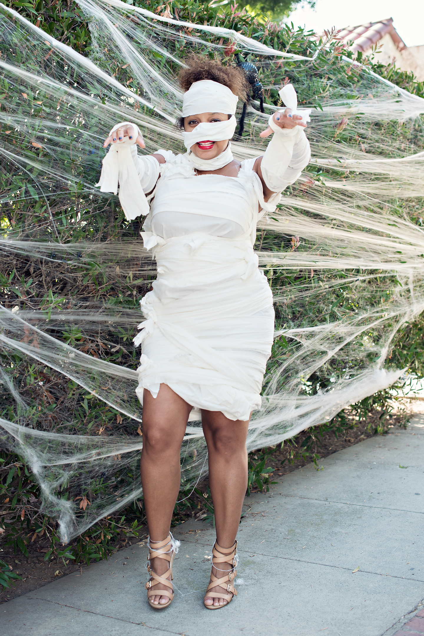 Miss Kris JCPenney Halloween Costume DIY 6 & THE WALKING DEAD: My Mummy Costume + JCPenney GIVEAWAY |